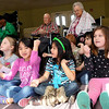Members of the intergenerational pre-kindergarten at Greenbrier exercise with the residents. (Staff Photo by BILLY HEFTON)