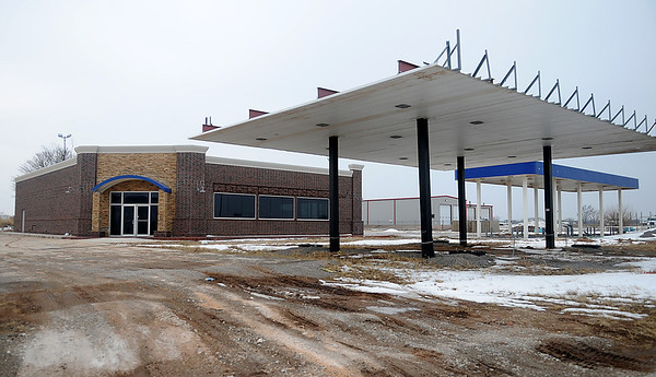 The new Pilot Truck Stop, formerly B&B Truck-Auto Travel Plaza, will replace a half-renovated vacant structure at 42nd and 412. The building has laid dormant for several years. (Staff Photo by BONNIE VCULEK)