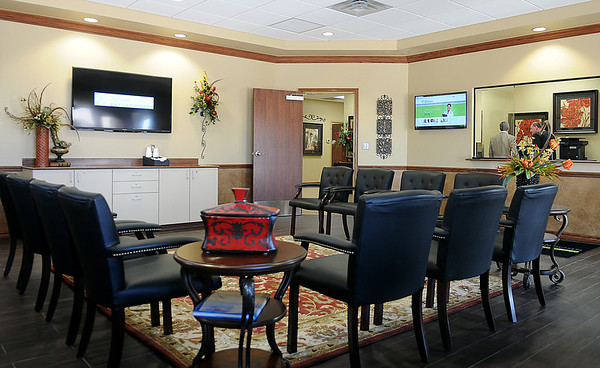 Clients entering the new Xpress Wellness Urgent Care are encouraged to register for appointments online so their wait time for treatment can be shortened. (Staff Photo by BONNIE VCULEK)