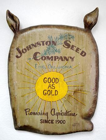 Johnston's Seed Company Logo (Staff Photo by BONNIE VCULEK)