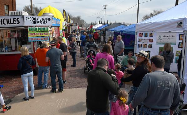 Red Brick Road Food Truck & Art Festival Saturday March 23, 2019. (Billy Hefton / Enid News & Eagle)