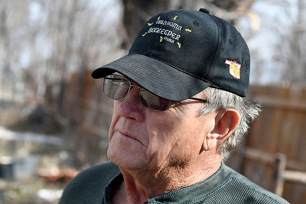Jimmy Shobert, 2018 Oklahoma Beekeeper of the Year, during an interview at his home near Laverne Tuesday March 19, 2019. (Billy Hefton / Enid News & Eagle)