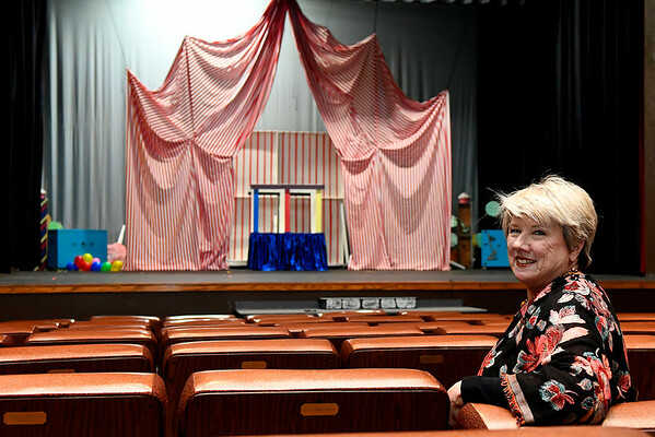 Janet Jones sits in the seats at the Gaslight Theater Tuesday March 12, 2019. (Billy Hefton / Enid News & Eagle)