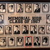 Fr. Mark Mason's gradulating class photo that hangs in a hallway at St. Joseph Catholic School Friday March 22, 2019. (Billy Hefton / Enid News & Eagle)
