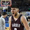 Garber's Sha Martin lets out a yell following their 53-51 double overtime win over Arapho-Butler in the Class A state championship Saturday, March 7, 2020 at the State Fair Arena in Oklahoma City. (Billy Hefton / Enid News & Eagle)