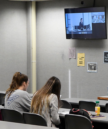 Students attend an ITV class at NWOSU Enid Monday, March 3, 2020. (Billy Hefton / Enid News & Eagle)