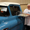 Lee Campbell with his 1957 Chevy pick-up at the Boy Scouts of America Car Show Saturday, March 27, 2021 at the Garfield County Fairgrounds. (Billy Hefton / Enid News & Eagle)