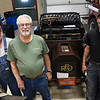 (left to right) Mike Choate, Harry Choate and Phil Choate with th efamily's 1901 REO at the Boy Scouts of America Car Show Saturday, March 27, 2021 at the Garfield County Fairgrounds. (Billy Hefton / Enid News & Eagle)