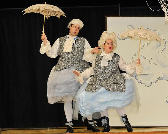 Tulsa Opera members, Elizabeth Kelsay and Elliott Deasy, perform at McKinley Elementary Monday March 21, 2016. (Billy Hefton / Enid News & Eagle)