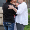 A driver of a vehicle is comforted by family and friends after a two-vehicle accident at 624 S. Independence Friday, May 10, 2013. The Enid Police Department, Enid Fire Department and Life EMS responded to the scene.(Staff Photo by BONNIE VCULEK)