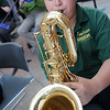 The Emerson Middle School jazz band performs in the breezeway in the 200 block of W. Randolph during the Tri-State Music Festival and Main Street Enid First Friday Jazz Stroll in downtown Enid May 3, 2013. (Staff Photo by BONNIE VCULEK)