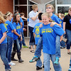 Piedmont Intermediate School 5th-6th grade chorus relaxes outside Central Christian Church after their Tri-State competition Wednesday, May 1, 2013. (Staff Photo by BONNIE VCULEK)