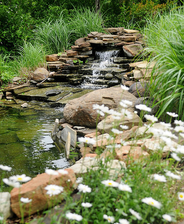 Water feature at Jon and Diane Ford's home, 3619 Willow Lake Lane (Staff Photo by BONNIE VCULEK)