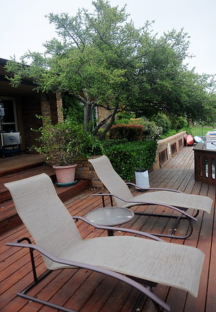 Jon and Diane Ford's deck overlooking Willow Lake at 3619 Willow Lake Lane (Staff Photo by BONNIE VCULEK)