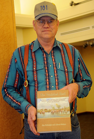 Albert Stehno, co-author of The Vanished Herd (Staff Photo by BONNIE VCULEK)