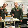 """A Vance Air Force Base student pilot gives a """"thumbs up"""" as 3rd Flying Training Squadron N-Flight classes 13-13 and 13-14 enjoy Nacho Friday May 3, 2013. (Staff Photo by BONNIE VCULEK)"""