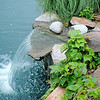 Jon and Diane Ford's backyard garden features water features built by Jon at 3619 Willow Lake Lane. (Staff Photo by BONNIE VCULEK)