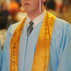 Christopher Holmes, one of Chisholm High School's Valedictorians, pauses before his address during the Longhorns' Commencement in the Paul J. Outhier Field House Friday, May 10, 2013. (Staff Photo by BONNIE VCULEK)