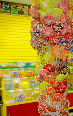 Candyopolis's Whirly Pop Tree (Staff Photo by BONNIE VCULEK)