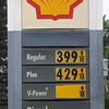 Shell stations across Enid display their unleaded prices as $3.99.9 per gallon Friday, May 17, 2013. With gasoline prices skyrocketing at the pump, drivers are wondering why? (Staff Photo by BONNIE VCULEK)