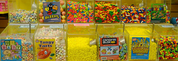 Candyopolis features several Willie Wonka candy selections. (Staff Photo by BONNIE VCULEK)