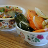 Cafe Garcia's salsa bar features mild and spicy ingredients. (Staff Photo by BONNIE VCULEK)