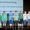 The Emerson Middle School choir leads students, faculty and guests as they sing the school song during Emerson's 90th birthday celebration. (Staff Photo by BONNIE VCULEK)