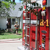 The Enid Fire Department responds to a kitchen fire in the 200 block of N. Madison Wednesday, May 22, 2013. (Staff Photo by BONNIE VCULEK)