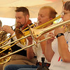 The Brass Band performs during the Frontier Festival Town Social & Dance at the Cherokee Strip Regional Heritage Center's Humphrey Heritage Village Saturday, May 17, 2014. (Staff Photo by BONNIE VCULEK)