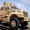 The Enid Police Department's Army surplus armored personnel carrier arrived Tuesday, May 20, 2014. Lt. Gary Fuxa was instrumental in obtaining the vehicle for the Enid Police Department through a grant request. The only cost to the department was the $2500 delivery fee. (Staff Photo by BONNIE VCULEK)