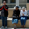 Individuals gather on the Garfield County Courthouse lawn for the National Day of Prayer Thursday, May 1, 2014. (Staff Photo by BONNIE VCULEK)