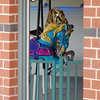 Beautiful carousel horses appear through the doorway of the Meadowlake Carousel House at Meadowlake Park Thursday, May 15, 2014. (Staff Photo by BONNIE VCULEK)
