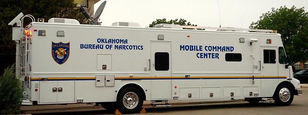 Oklahoma Bureau of Narcotics Mobile Command Center (Staff Photo by BONNIE VCULEK)