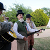 The Prairie County Avengers entertain guests during the Frontier Festival Town Social & Dance at the Cherokee Strip Regional Heritage Center's Humphrey Heritage Village Saturday, May 17, 2014. (Staff Photo by BONNIE VCULEK)