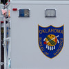 Oklahoma Bureau of Narcotics mobile command center logo (Staff Photo by BONNIE VCULEK)