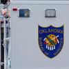 Oklahoma Bureau of Narcotics mobile command center logo (Staff Photo by BONNIE VCULEK)