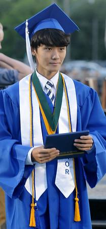 Sunghyun Hwang, Enid High School 2015 Valedictorian (Staff Photo by BONNIE VCULEK)