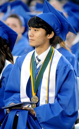 Sunghyun Hwang, 2015 Enid High School Valedictorian (Staff Photo by BONNIE VCULEK)