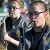 Members of the Waller Middle School band march in the Tri-State parade Friday May 6, 2016 in downtown Enid. (Billy Hefton / Enid News & Eagle)