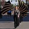 Members of the Waller Middle School flag corp during the Tri-State parade Friday May 6, 2016 in downtown Enid. (Billy Hefton / Enid News & Eagle)