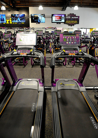 Interior of Planet Fitness at 800 W. Broadway. (Billy Hefton / Enid News & Eagle)