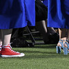 A variety of footware was worn by members of the Enid High School Class of 2017 during commencement exercies Thursday May 25, 2017 at D. Bruce Selby Stadium. (Billy Hefton / Enid News & Eagle)