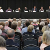 Eleven Oklahoma gubernatorial candidates took part in the Oklahoma Academy's Northwest Region Gubernatorial Issues Forum Tuesday May 29, 2018 at the Central National Bank Center. (Billy Hefton / Enid News & Eagle)