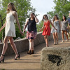 Enid High School seniors take part in the 104th May Fete tradition Tuesday May 7, 2019 at Government Springs Park. (Billy Hefton / Enid News & Eagle)