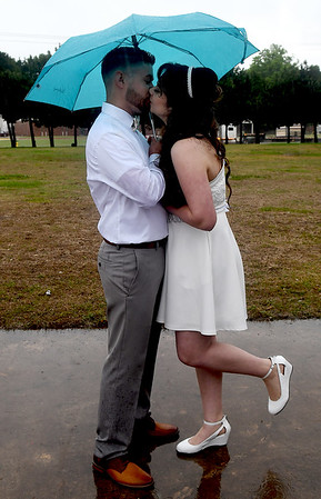 Wed in Rain