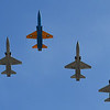 T-38 Talons fly over downtown Enid Friday, May 1, 2020 honoring essential personnel supporting the COVID-19 effort. (Billy Hefton / Enid News & Eagle)
