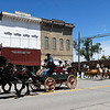 A cattle drive celebrating the Chisholm Trail traveled through downtown Pond Creek Tuesday, May 4, 2021. (Billy Hefton / Enid News & Eagle)