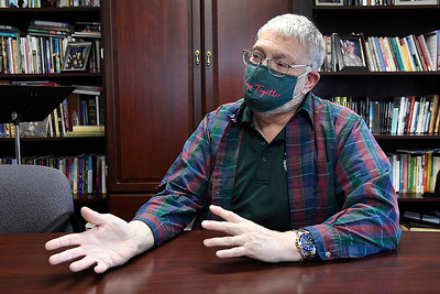 Rev. Paul Ragle, new pastor at the Christian Church of the Covenant, during an interview Tuesday, January 26, 2021. (Billy Hefton / Endi News & Eagle)