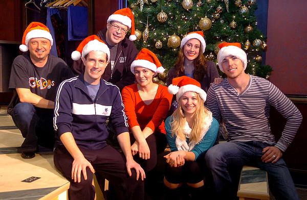 Cast of White Christmas, (Left to Right) Jason Maly, John keckeisen, Michael Jones, Louisa Black, Lindsey Newell and Paul Stuart. (Staff Photo by BILLY HEFTON)