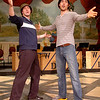 John Keckeisen and Paul Stuart rehearse for the production of White Christmas. (Staff Photo by BILLY HEFTON)